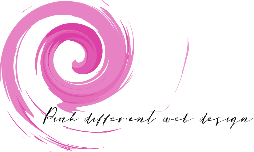 Logo Pink different web design