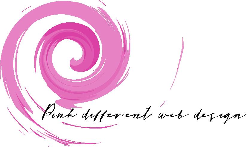 Logo Pink different web design