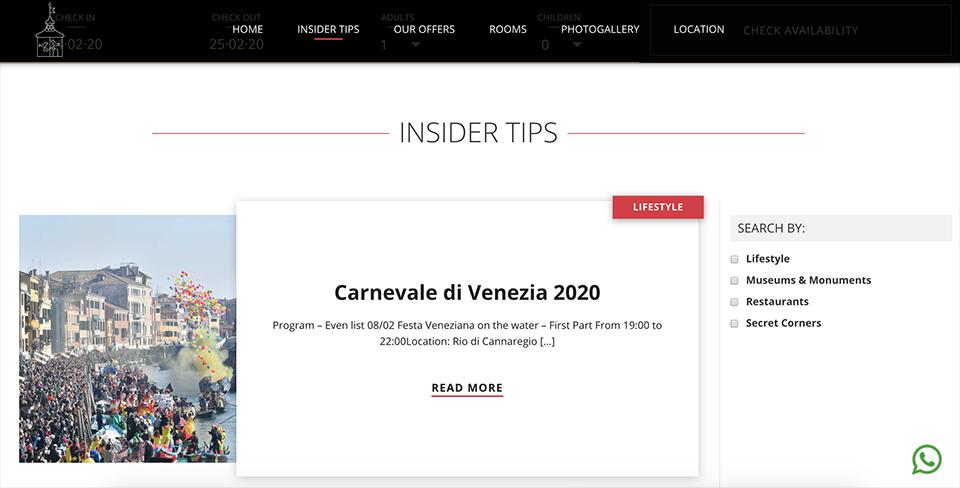 San Lio pink different siti web professionali Venezia-Treviso-Veneto