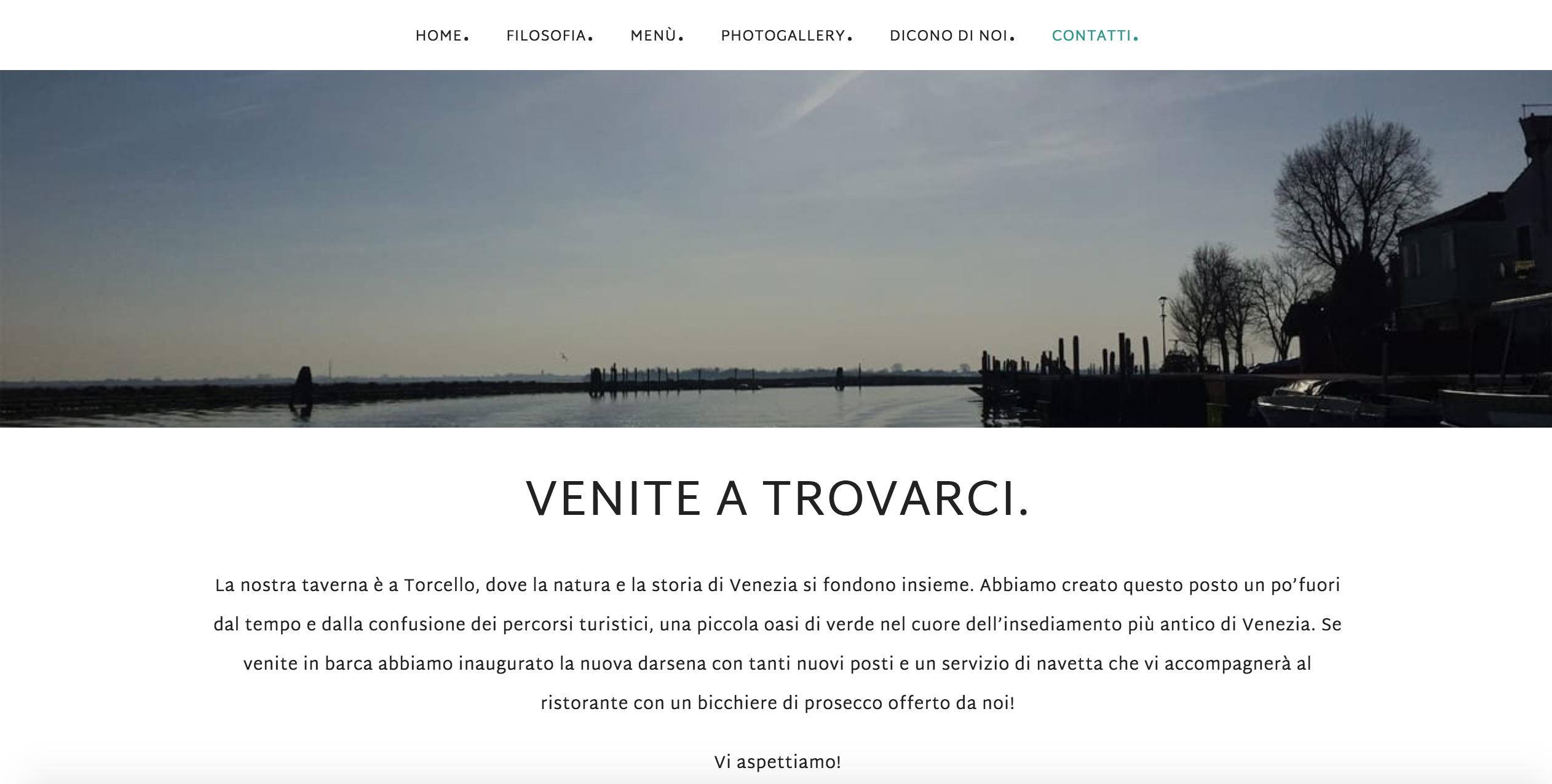 Taverna Veneziana pink different siti web professionali Venezia-Treviso-Veneto